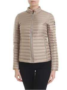 Colmar - Beige quilted Punk down jacket with logo