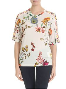 Etro - Etro ivory white t-shirt with floral pattern