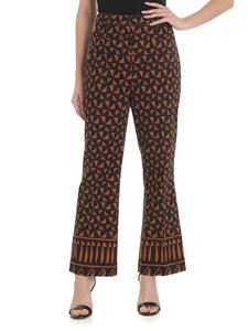 Etro - Black and brown palazzo trousers