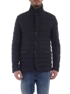 Herno - Herno blue quilted down jacket