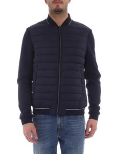 Herno - Herno blue bomber jacket with contrasting sleeves