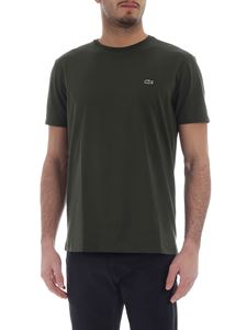 Lacoste - Lacoste army green Pima cotton T-shirt