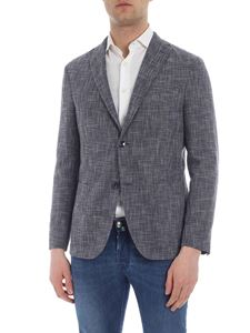 Boglioli - Blue and white two buttons jacket