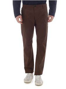Nine in the morning - Fold brown chino trousers