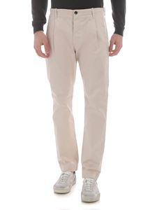 Nine in the morning - Fold beige chino trousers