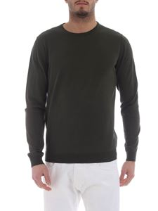 Roberto Collina - Army green cotton pullover