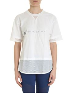Adidas by Stella McCartney - White sporty t-shirt with logo