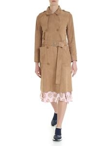 Stand Official - Sand beige suede trench