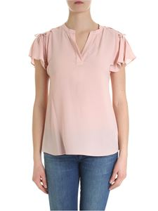 Michael Kors - Pink blouse with braided detail