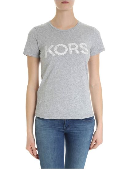 20b73aea Michael Kors Spring Summer 2019 michael kors t-shirt in grey with ...