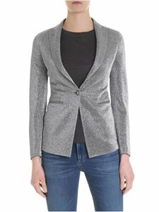 Tagliatore - Gilda jacket in silver color lamè