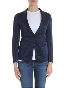 Tagliatore - Gilda lamè jacket in blue and black