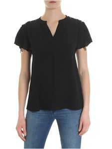 Michael Kors - Black blouse with laces on shoulders