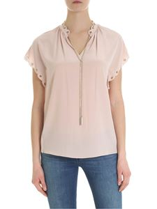 Michael Kors - Blouse in pure pink silk