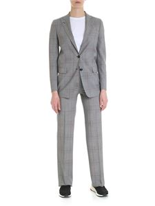 Tagliatore - Grey Bertha suit with contrast check pattern