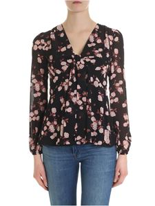 Michael Kors - Black blouse with rose print