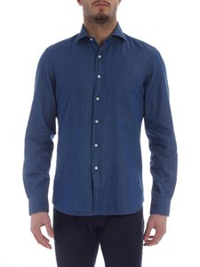 Fay - Blue chambray shirt with Fay embroidery