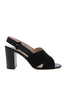 Tod's - Black leather sandals