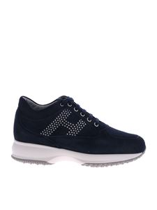 Hogan - Sneakers interactive in suede blu