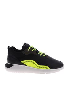 Hogan - Black and neon yellow Interactive 3 sneakers