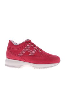 Hogan - Sneakers interactive in suede fucsia