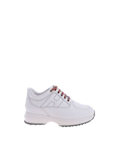 Interactive white H sneakers