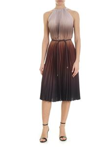 Max Mara - Fuxia pleated dress in shades of brown