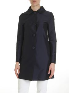 Herno - Blue coat with covered buttons