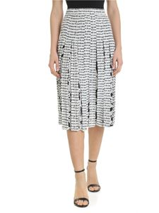 Diane von Fürstenberg - Gardena skirt with white and black logo