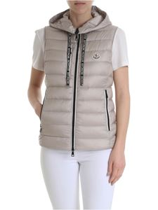 Moncler - Sucrette beige sleeveless down jacket