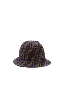 Fendi Jr - FF brown and black Cloche hat