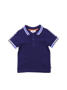 Hugo Boss - Blue polo with striped details and logo