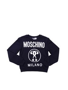Moschino Kids - Moschino Milano sweatshirt in black cotton