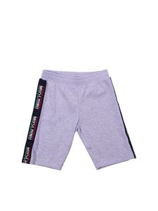 Moschino Kids - Bermuda in grey melange comfortable cotton