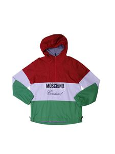 Moschino Kids - Color block wind-jacket in red white and green