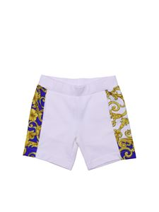 Versace Young - Baby boy shorts in white cotton