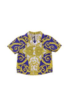 Versace Young - Baroque golden and blue shirt