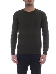 Paolo Pecora - Green pullover in knitted cotton