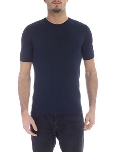 Paolo Pecora - Blue cotton knitted T-shirt
