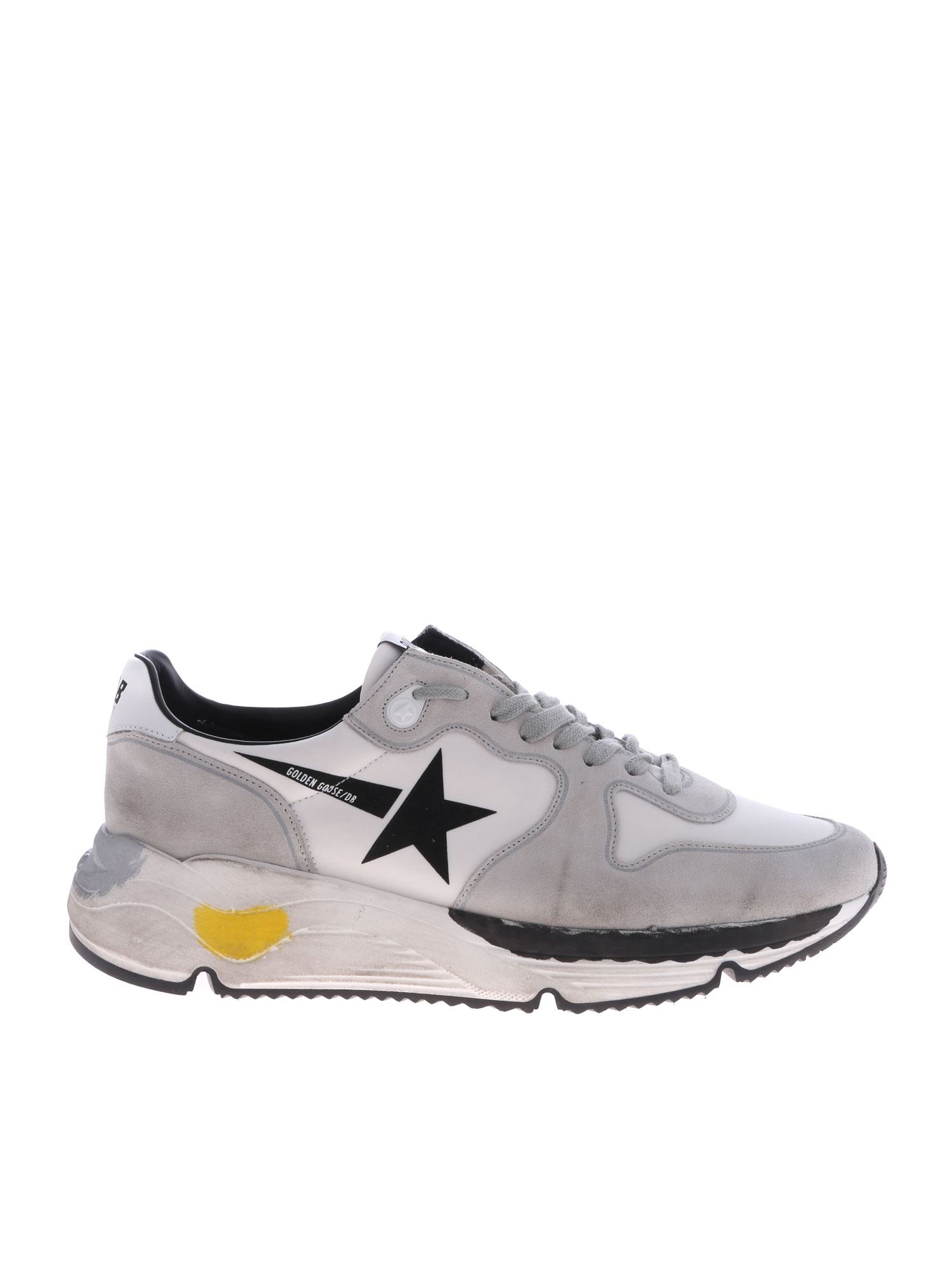 GOLDEN GOOSE WHITE AND ICE WHITE GGDB RUNNING SNEAKERS