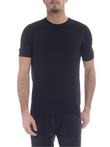 Paolo Pecora - Black cotton knitted T-shirt