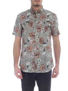 Paolo Pecora - Sage green shirt with floral motif