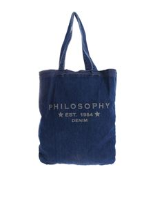 Philosophy di Lorenzo Serafini - Borsa in denim blu Philosophy