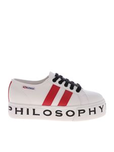 Philosophy di Lorenzo Serafini - White sneakers with red inserts