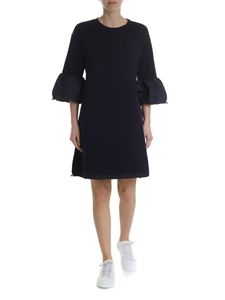 Moncler - Moncler blue dress with drawstring