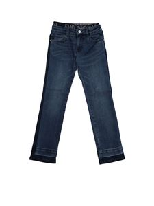 Emporio Armani - Blue jeans with branded elastic