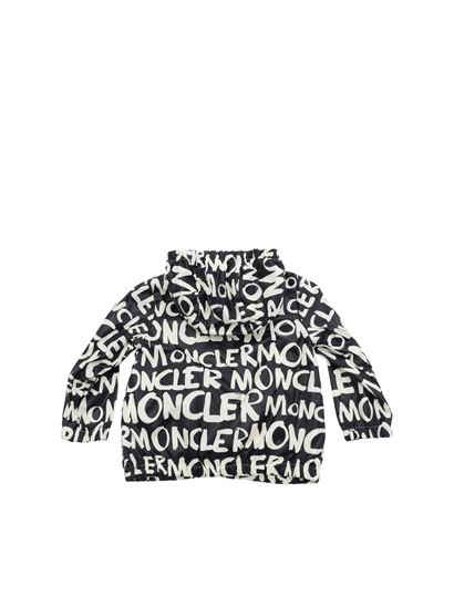 Moncler Jr - Black and white Cosson jacket