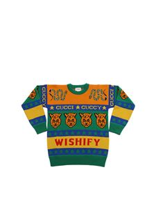 Gucci - Multicolor pullover with animal jacquard and symbols