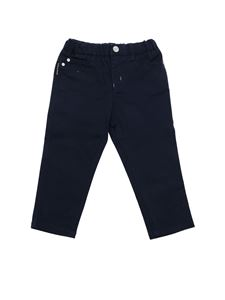 Emporio Armani - Blue pants with logo details