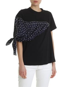Sacai - Sacai t-shirt in black with polka dot insert
